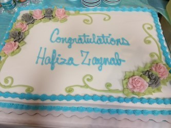 Congratulations to our young Hafiza!